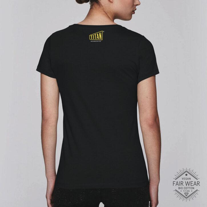 Cafe Racer TITAN Logo Cooles T-Shirt Motorcycles tees shirt Biker t-shirt Riding design künstler design online bestellen vintage tshirt spruch motorrad Vegan Bio Fair Trade Shirt
