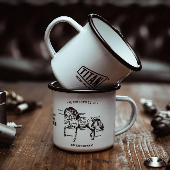TITAN-Emaille-Becher-Tasse-Motorrad-Abenteuer-Outdoor-Küche-Haushalt-Kaffee-Camping-Geschenk-Caferacer-Enamel-Mug_001