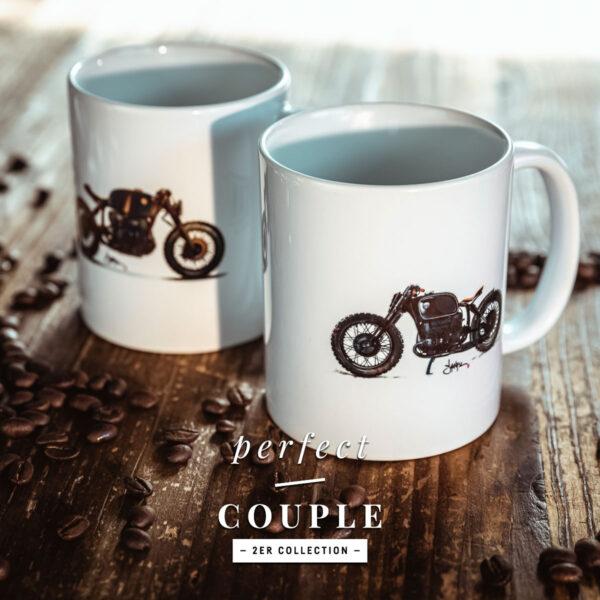 TITAN-Kaffee-Tasse-Haeferl-Motorrad-Cup-Kueche-Haushalt-Kaffee-Geschenk-Caferacer-Mug-Espresso-Latte-Becher-2er-Set-Paare