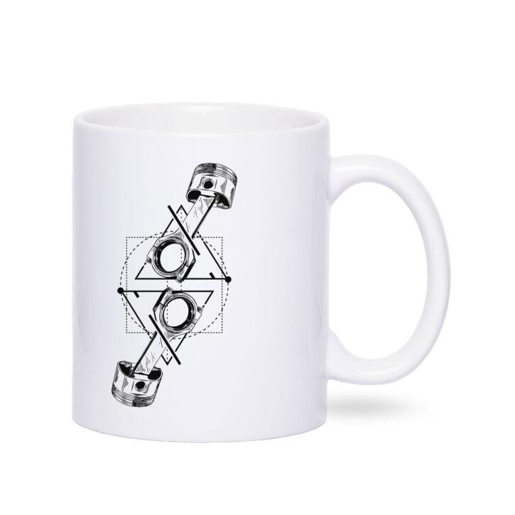 Geschenktasse Motorradfahrer Motorradtasse Häferl Tee Motiv Becher Porzellan Weiß Mug TITAN Caferacer Tasse Webshop