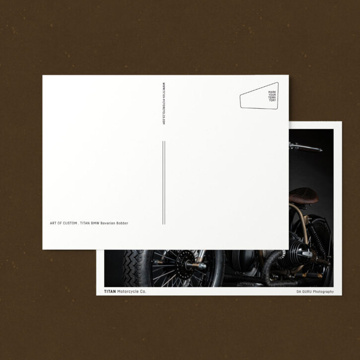 TITAN-Coole-Motorrad-Postkarten- Caferacer-Ansichtskarten-Chromokarton-Grußkarte-Print-Set-Shop-Geschenke