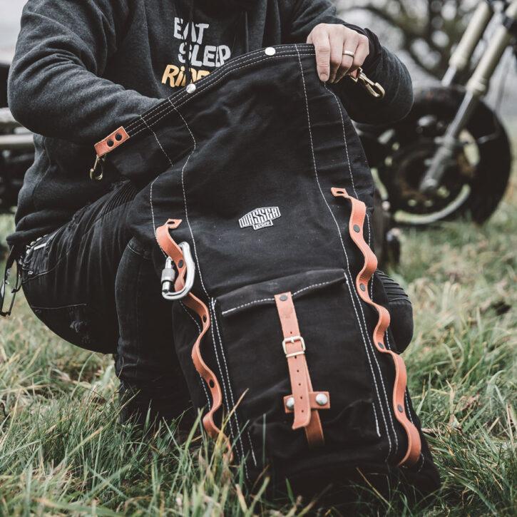 Motorrad-Rucksack-TITAN-Wasserstoff-Bag-Caferacer-Backpack-Tasche-Motorradfahren-Motorcycle